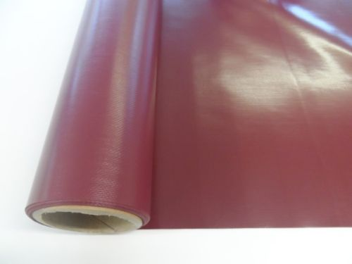 PVC Gloss Fabric Burgundy